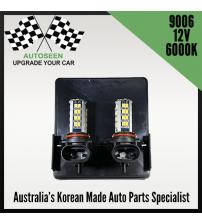 LED 9006(2pcs set) 6000K WHITE HI-PERFORMANCE FOG LAMP (12V)