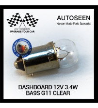 DASHBOARD 12V 3.4W BA9S G11 CLEAR