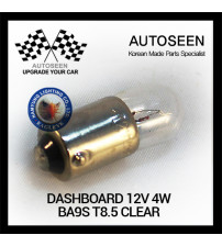 DASHBOARD 12V 4W BA9S T8.5 CLEAR