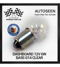 DASHBOARD 12V 6W BA9S G14 CLEAR