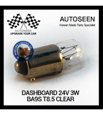 DASHBOARD 24V 3W BA9S T8.5 CLEAR
