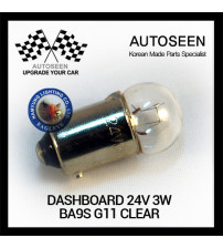 DASHBOARD 24V 3W BA9S G11 CLEAR