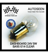 DASHBOARD 24V 5W BA9S G14 CLEAR